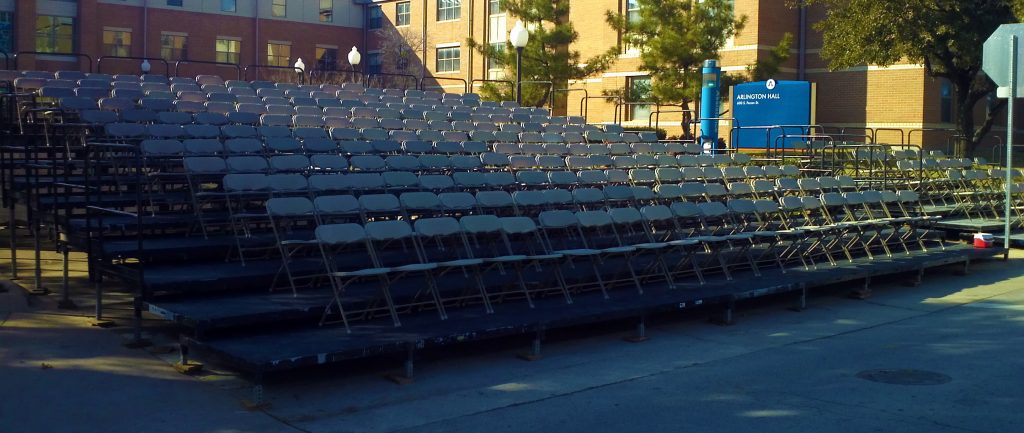 VIP Parade seating risers